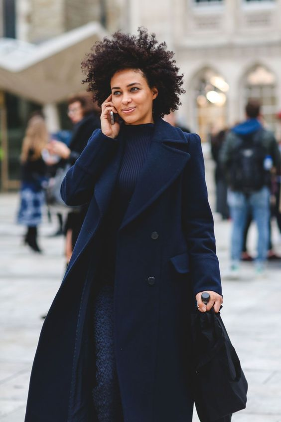 streetstyle navy coat 2016
